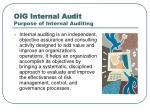 oig internal audit purpose of internal auditing