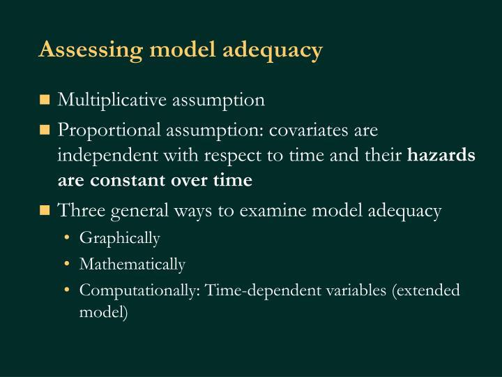 Assessing model adequacy