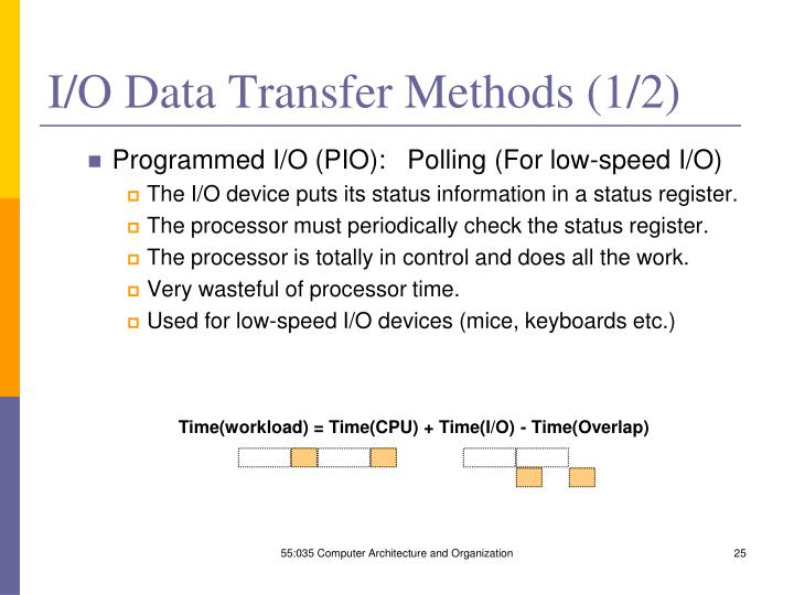 Time(workload) = Time(CPU) + Time(I/O) - Time(Overlap)