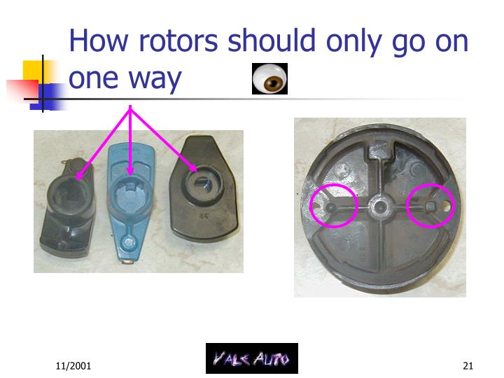 How rotors should only go on one way