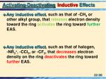 activating deactivating inductive effects