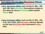 activating deactivating resonance effects