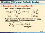 nitration nitric and sulfuric acids