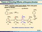 theory of directing effects ortho para director