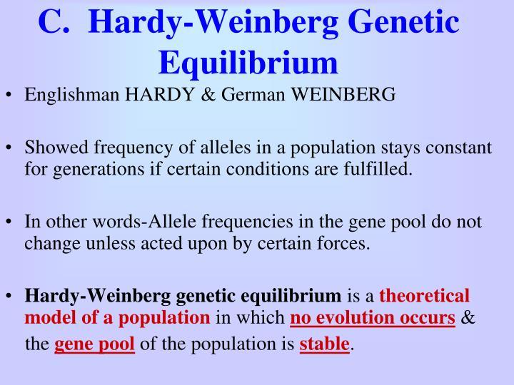 C.  Hardy-Weinberg Genetic Equilibrium