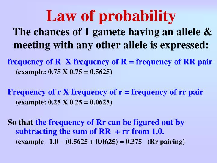 Law of probability