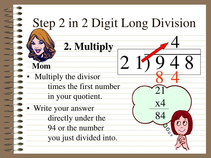 Step 2 in 2 Digit Long Division