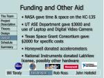 funding and other aid