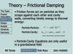 theory frictional damping