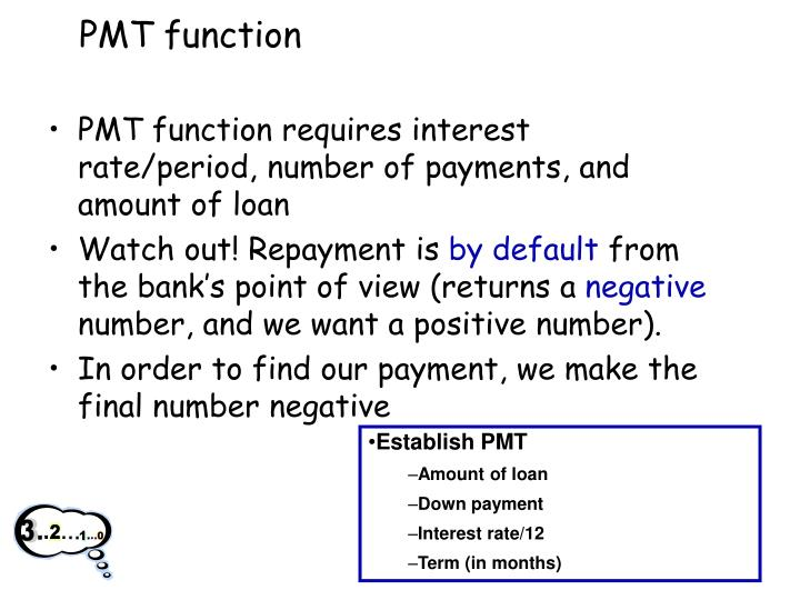 PMT function