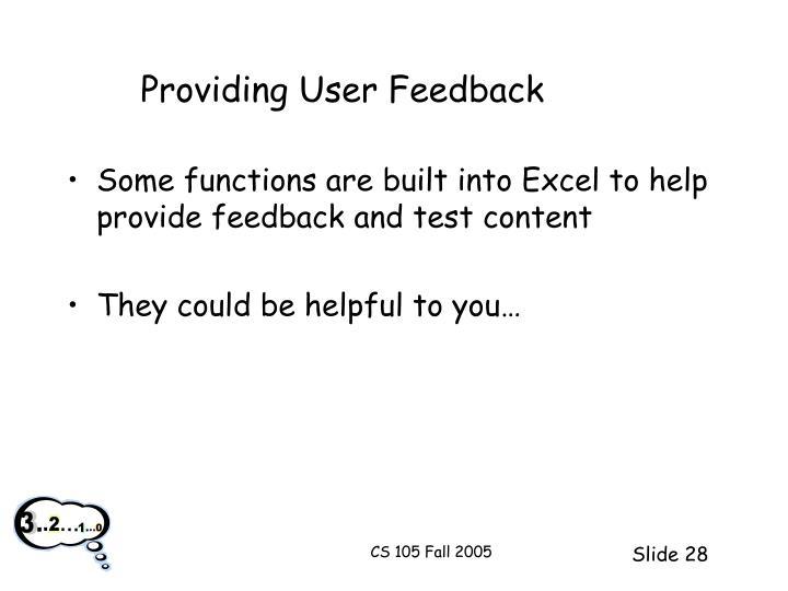 Providing User Feedback