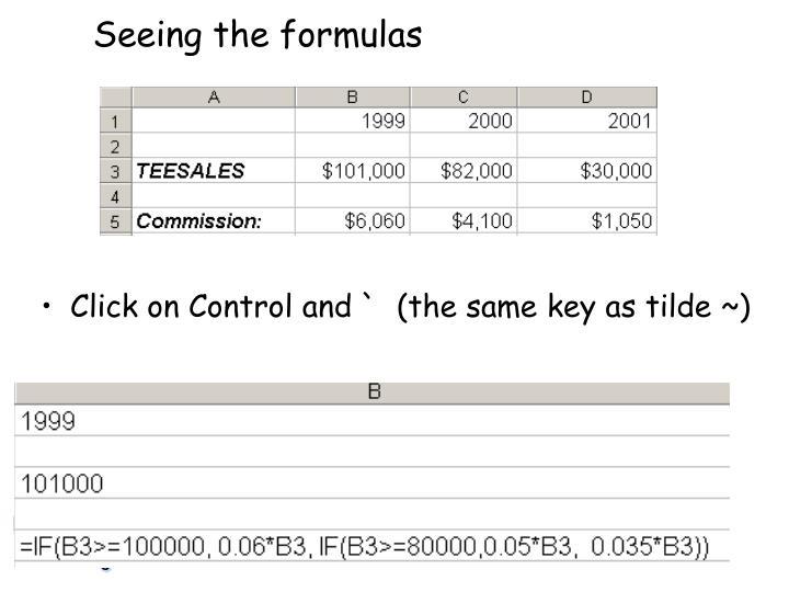 Seeing the formulas