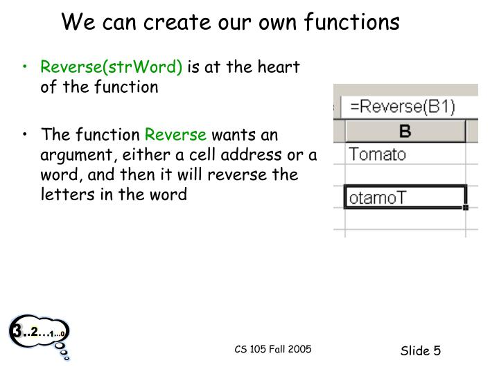 We can create our own functions