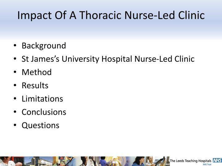 Impact of a thoracic nurse led clinic1