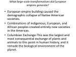 what large scale transformations did european empires generate
