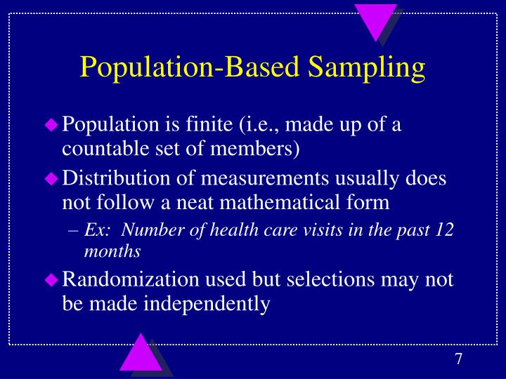 Population-Based Sampling