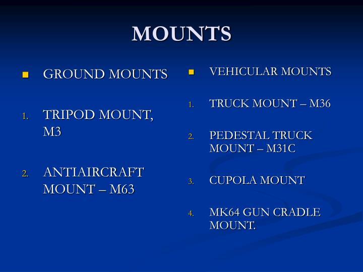 GROUND MOUNTS
