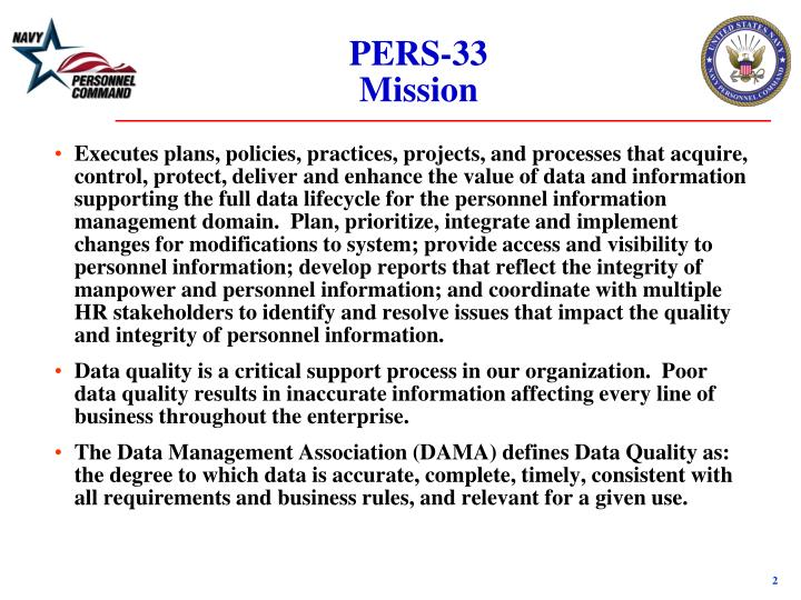 Pers 33 mission