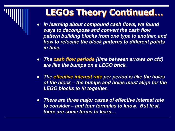 LEGOs Theory Continued…
