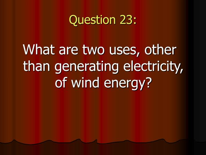 Question 23: