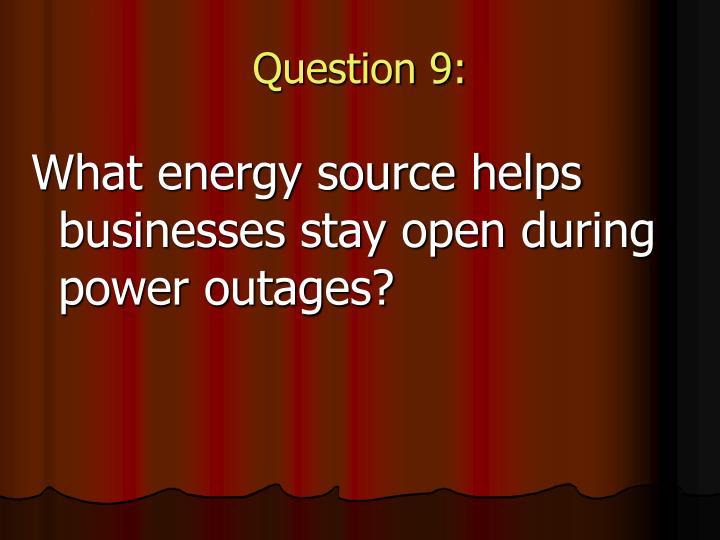 Question 9: