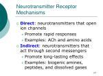neurotransmitter receptor mechanisms