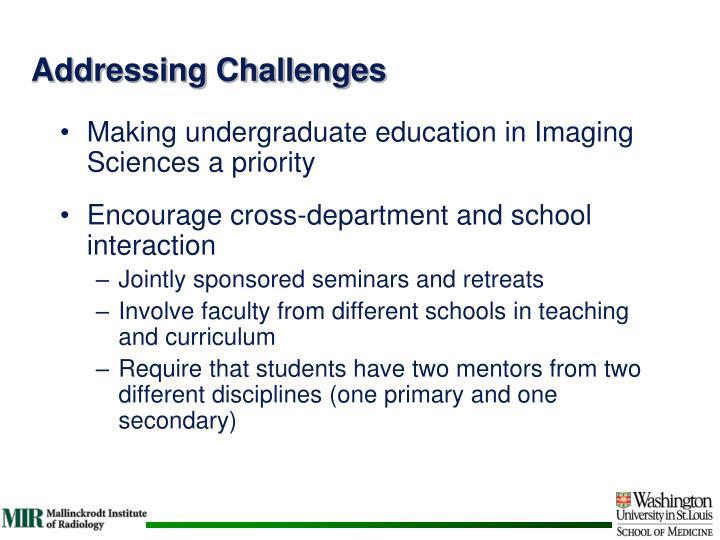 Addressing Challenges