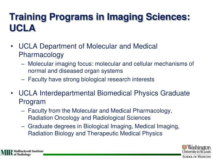 Training Programs in Imaging Sciences: UCLA