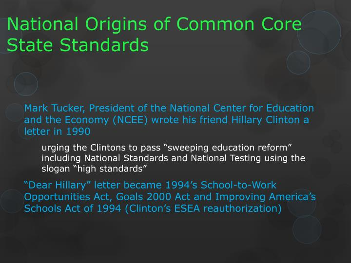 National Origins of Common Core State Standards