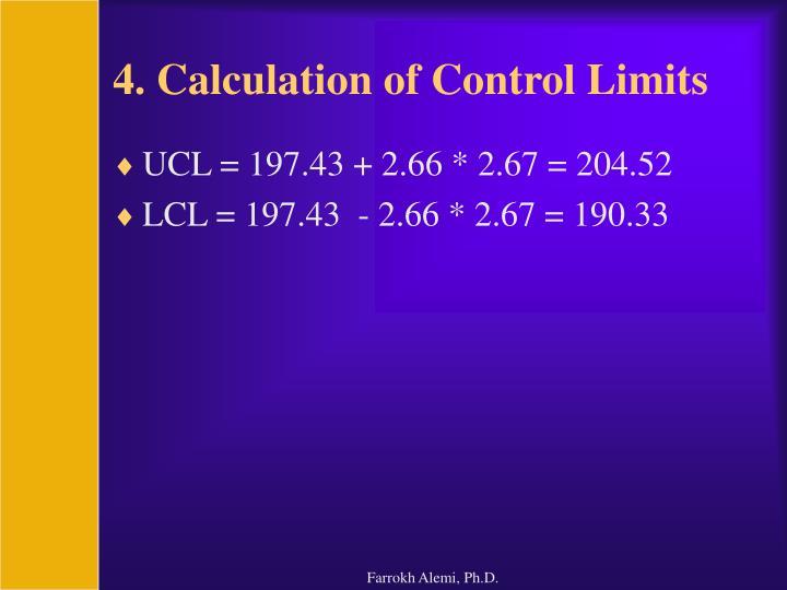 4. Calculation of Control Limits
