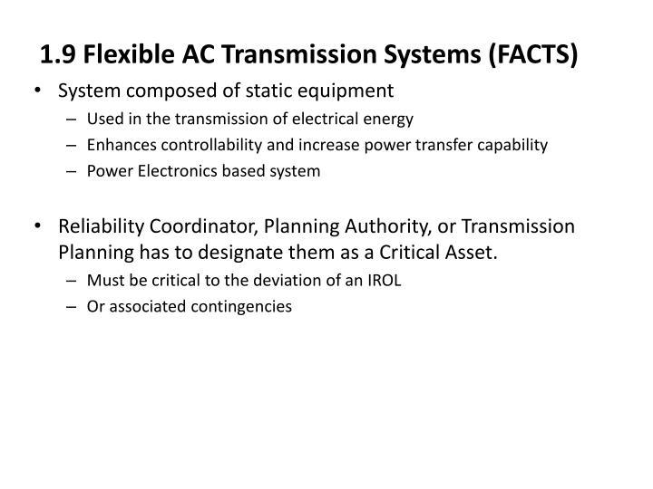 1.9 Flexible AC Transmission Systems (FACTS)