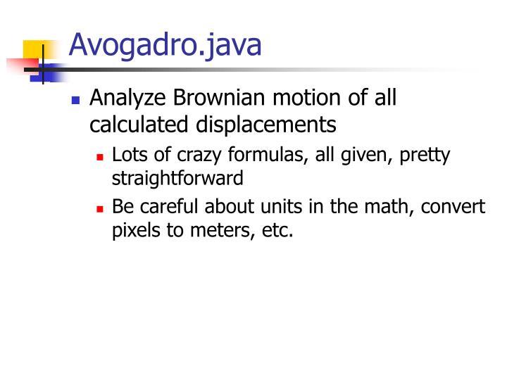 Avogadro.java