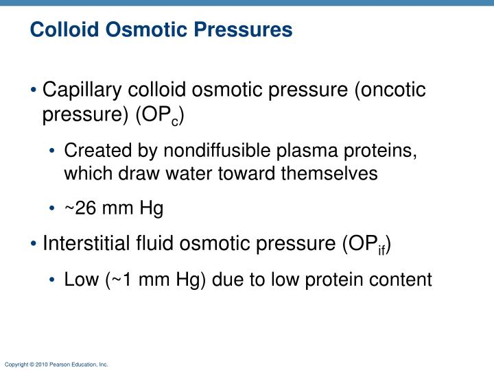 Colloid Osmotic Pressures