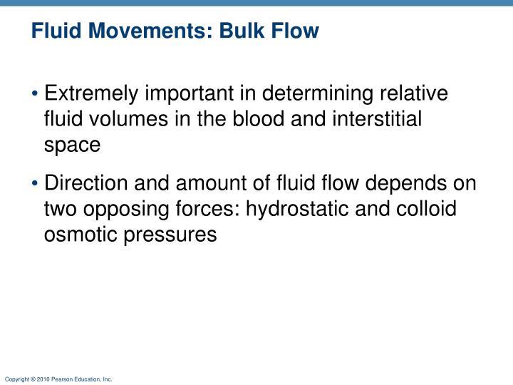 Fluid Movements: Bulk Flow