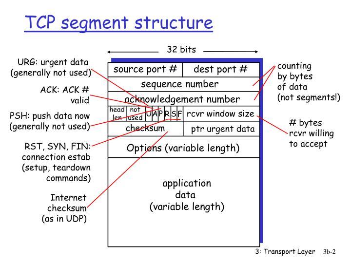 Tcp segment structure