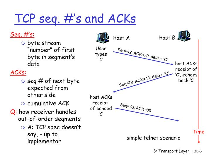 Tcp seq s and acks