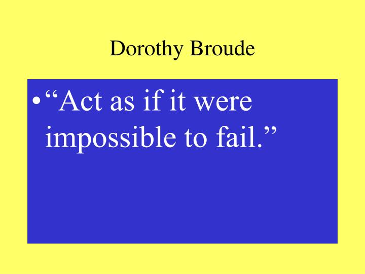 Dorothy Broude