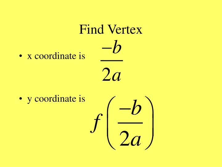 Find Vertex