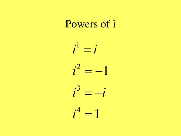 Powers of i