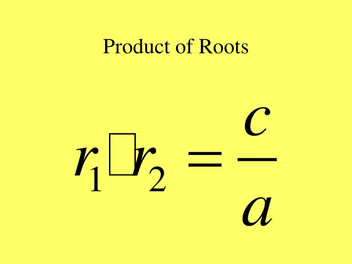 Product of Roots