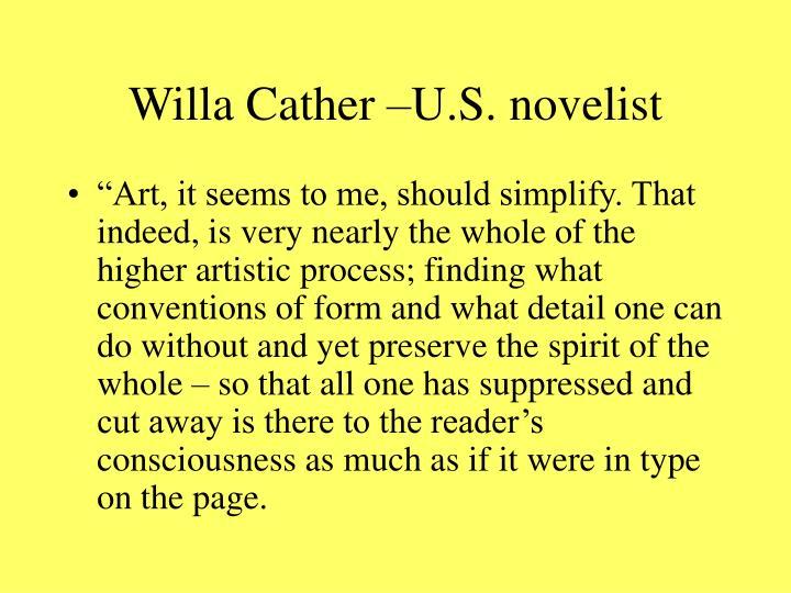 Willa cather u s novelist