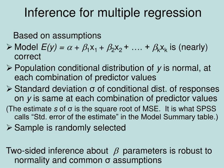 Inference for multiple regression