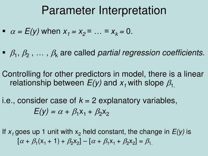 Parameter interpretation