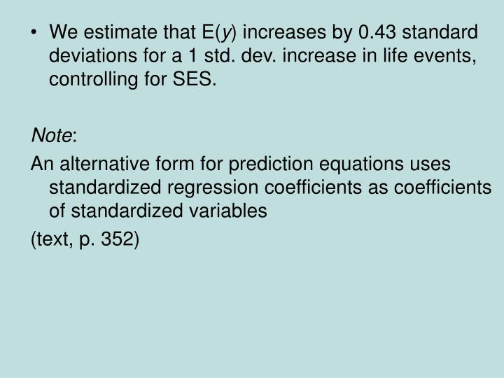 We estimate that E(