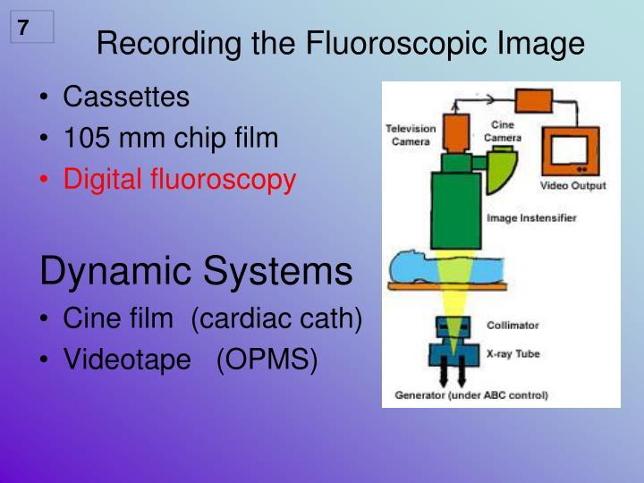 Recording the Fluoroscopic Image