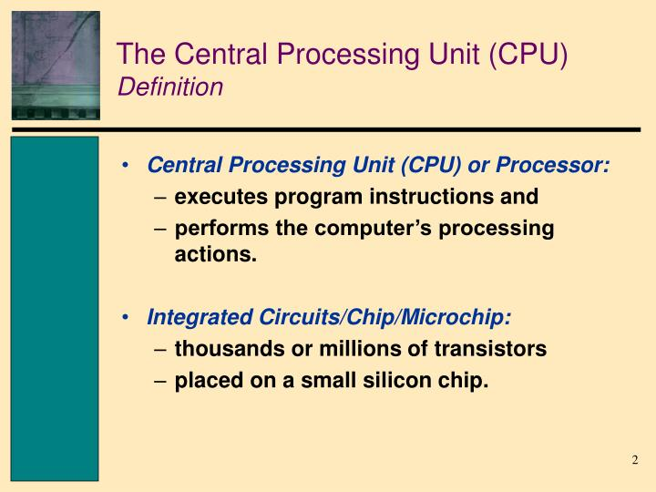 The central processing unit cpu definition