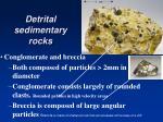 detrital sedimentary rocks3