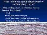 what is the economic importance of sedimentary rocks