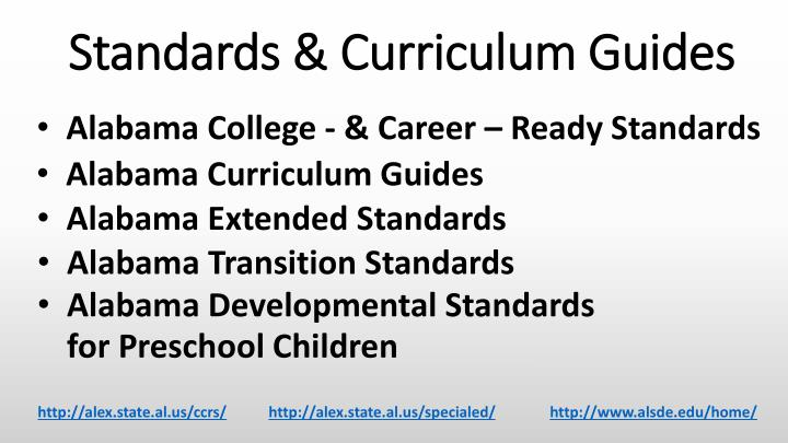 Standards & Curriculum Guides