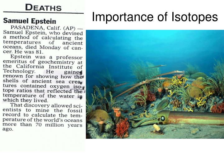 Importance of Isotopes